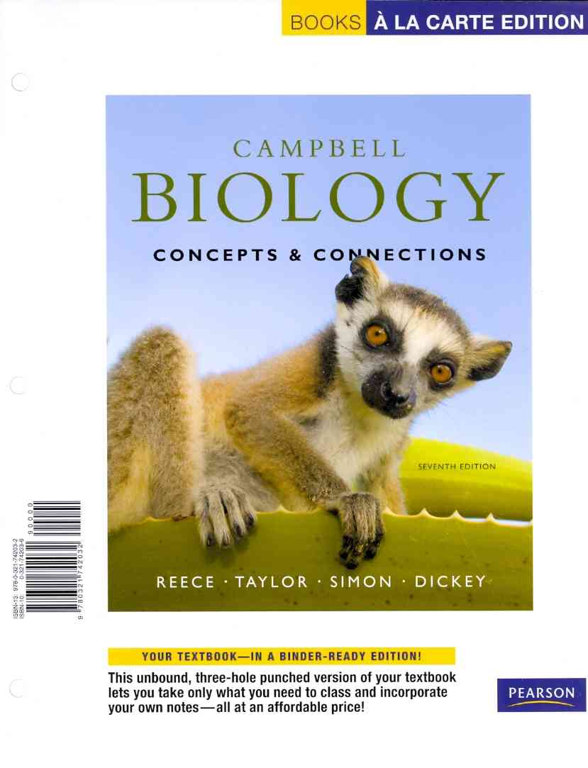 Benjamin-Cummings Publishing Company Campbell Biology: Concepts & Connections (7th Edition) by Reece, Jane B./ Taylor, Martha R./ Simon, Eric J. [Loose Leaf] at Sears.com